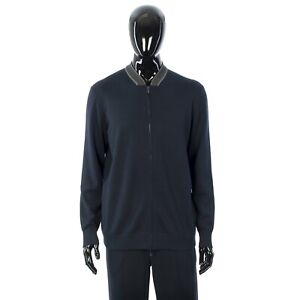 LORO-PIANA-4000-Navy-Blue-Bomber-Berger-In-Ultra-Soft-Knitted-Wish-Wool