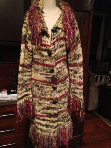 50'S STYLE WOVEN WOOL MULTI COLOR COAT