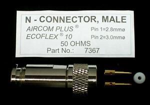 1 X Connecteur Mâle Pour Ecoflex 10 / Aircom Plus (m3509)
