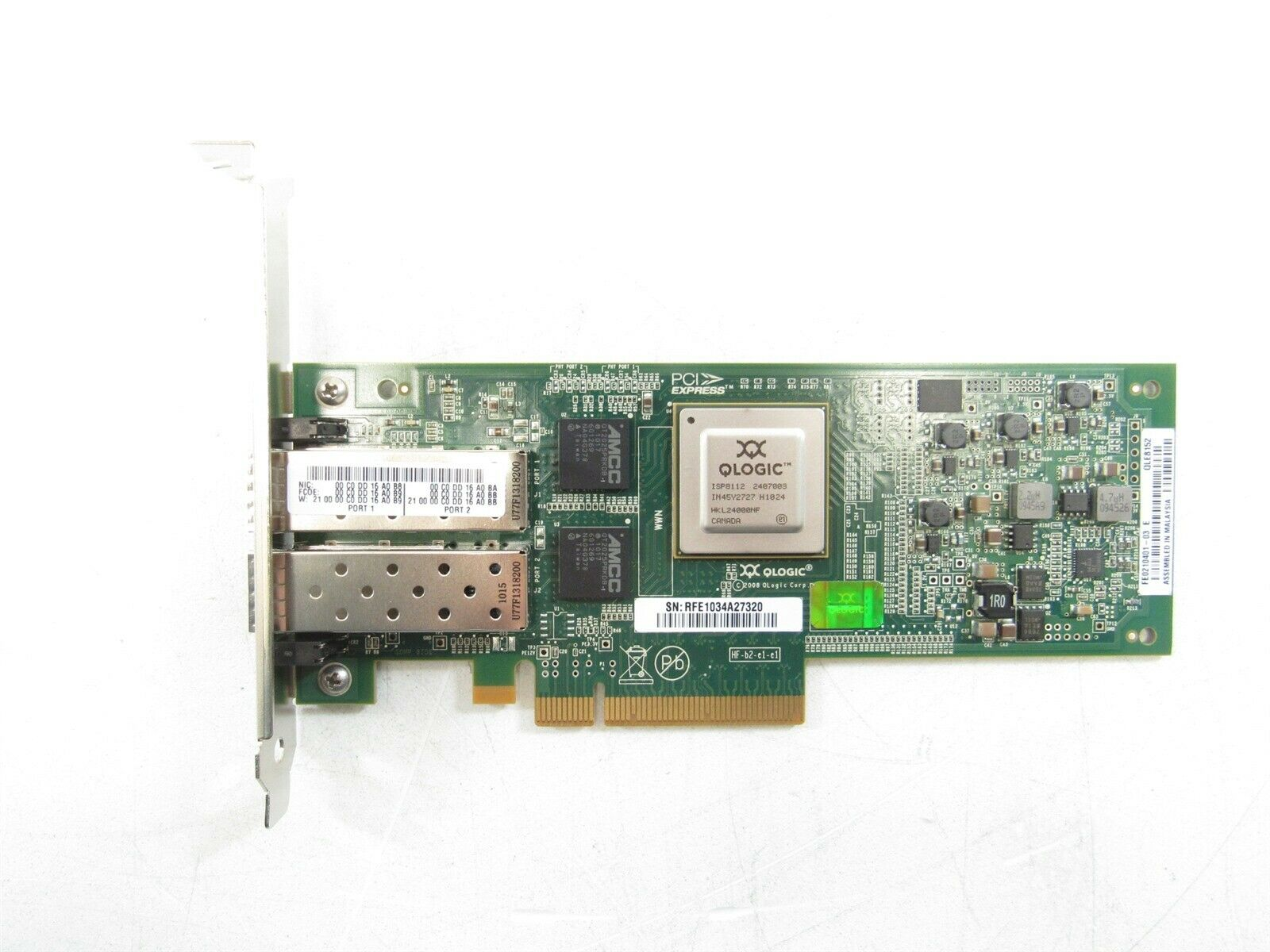 Qlogic QLE8152 //// FE0210401-03 D Dual Port FC Full Height Network Adapter