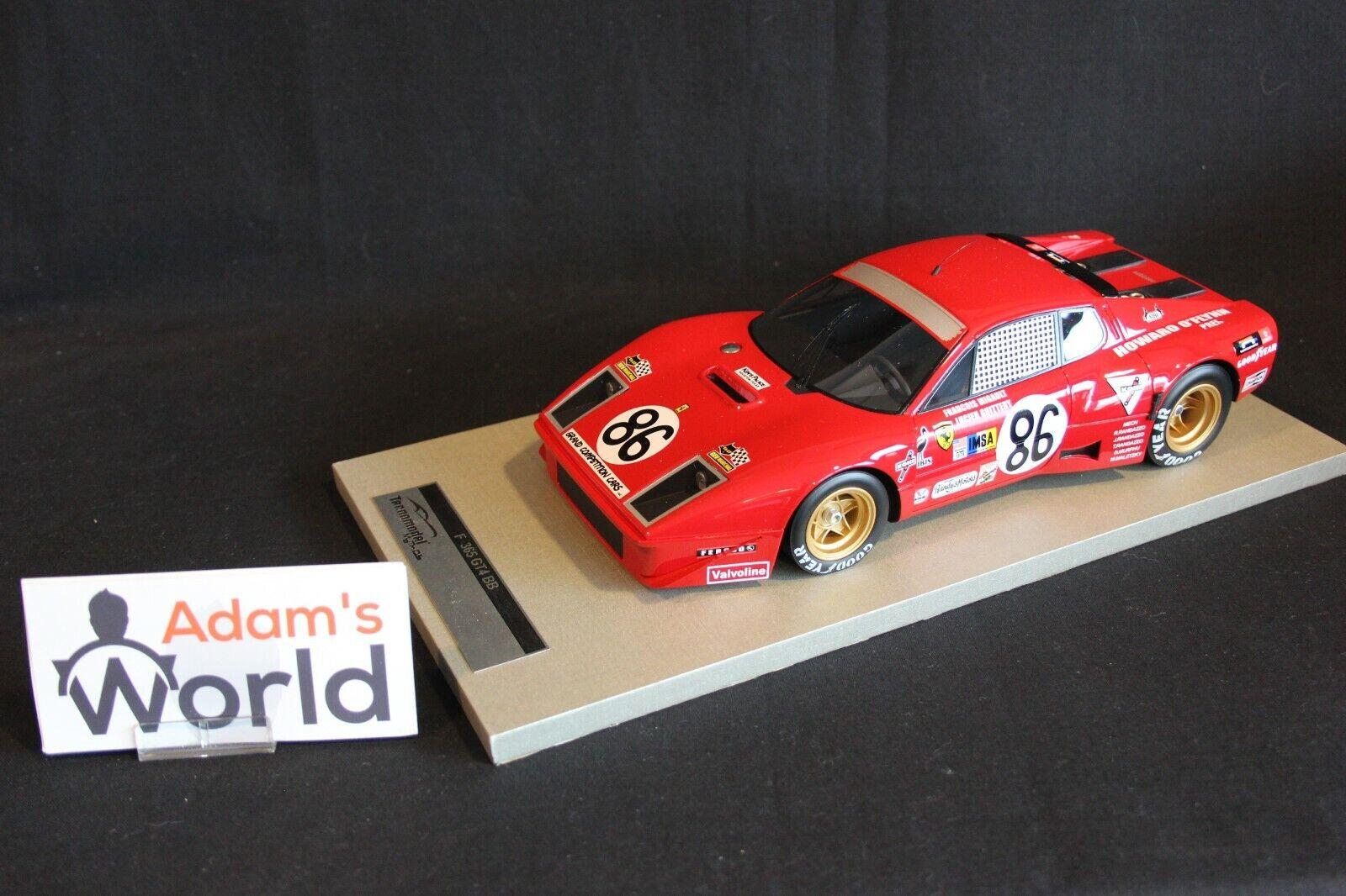 Tecnomodel Ferrari 365 GT 4B IMSA 1 18  86 Migault   Guitteny 24h LM 1978 (PJBB)