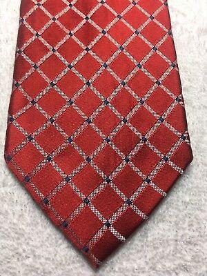 Bello Nautica Uomo Cravatta Rosso Con Blu E Bianco 3,5 X 61