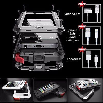 Shockproof Aluminum Gorilla Glass Metal Case Cover for iPhone 5S 6 & 6S Plus 5.5