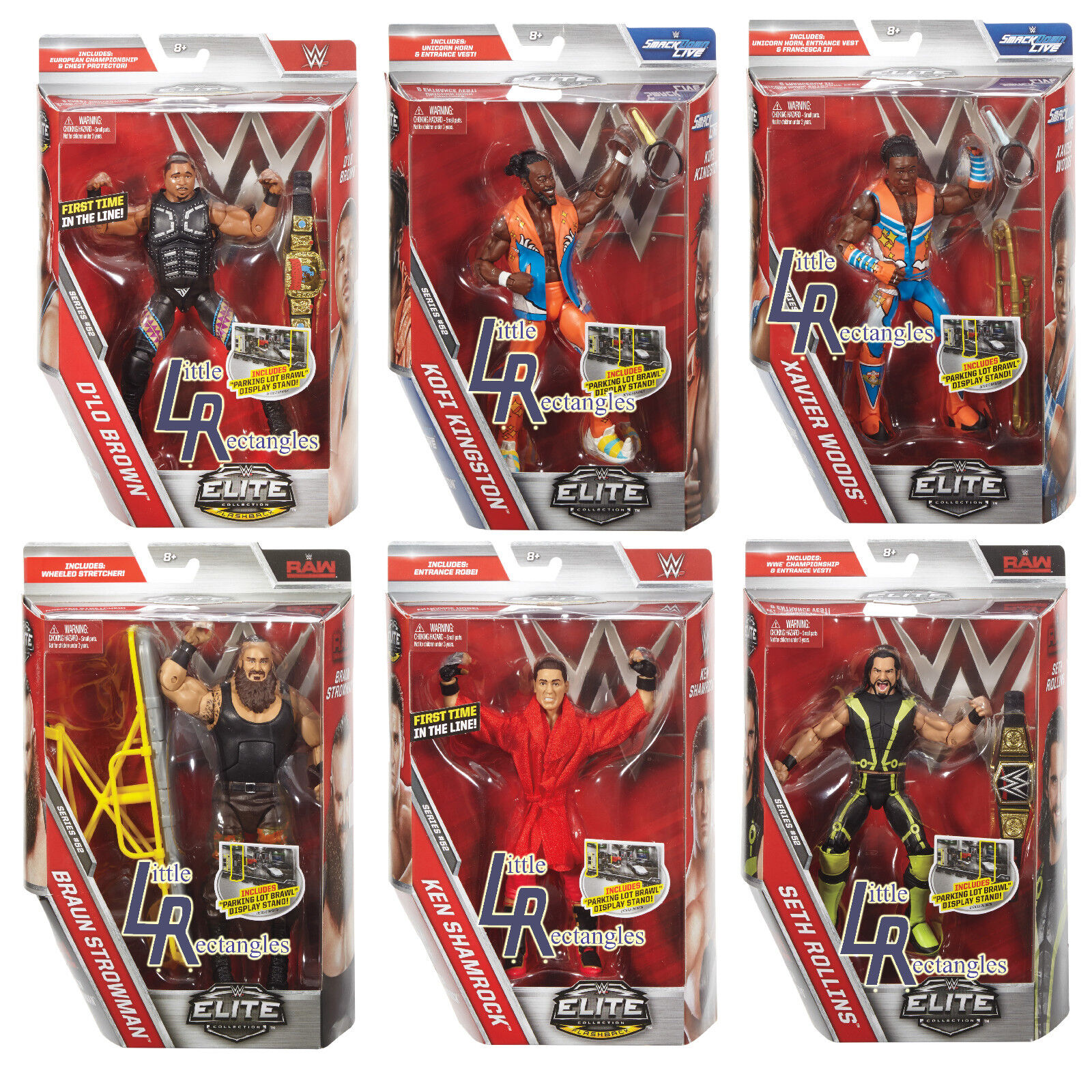 WWE Figures - Elite Series 52 - Mattel - Brand New - Sealed