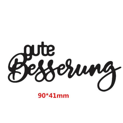 German Letters Metal cutting Die Stencil Scrapbooking Album Embossing DIY Crafts