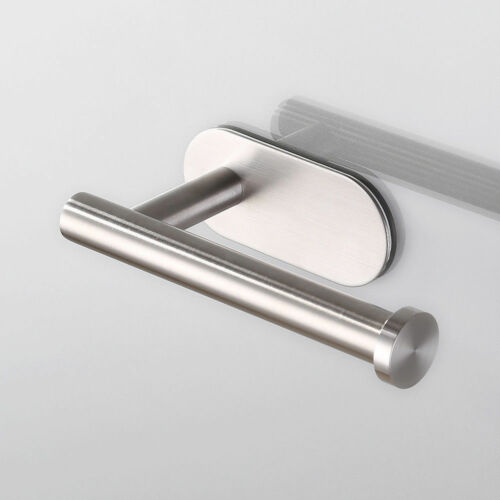 Papier Toilette Titulaire tissu acier inox 304 brossé Nickel//Chrome 3 m adhésif