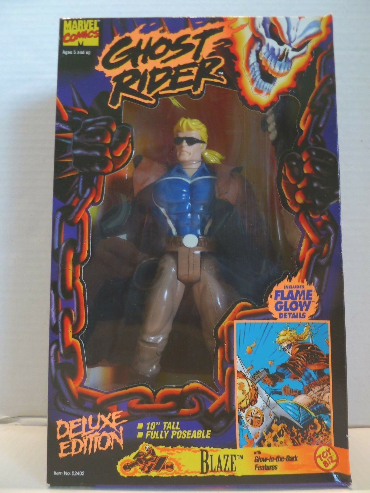 "3 Marvel Comics Ghost Rider Deluxe Edition 10"" Figure"