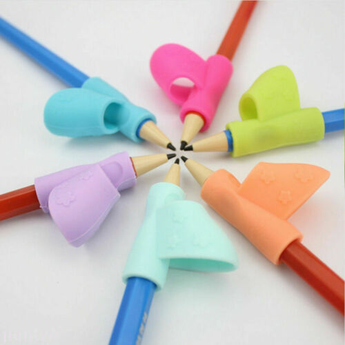 Pencil Soft Rubber Corrector Silicone Writing Aid Grip Posture Correction Tool