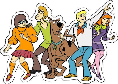 "6/""x 4.3/"" Scooby-Doo Gang bumper sticker scrapbooking wall decor vinyl decal"