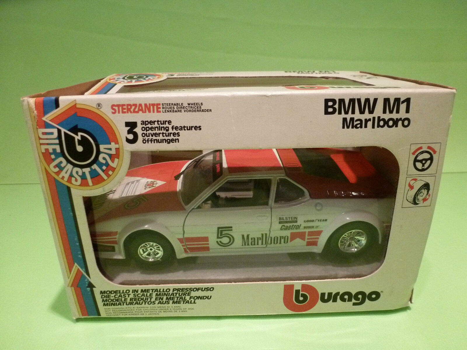 BBURAGO 1 24  BMW M1 MARLBor  0169  - IN ORIGINAL BOX   - GOOD CONDITION