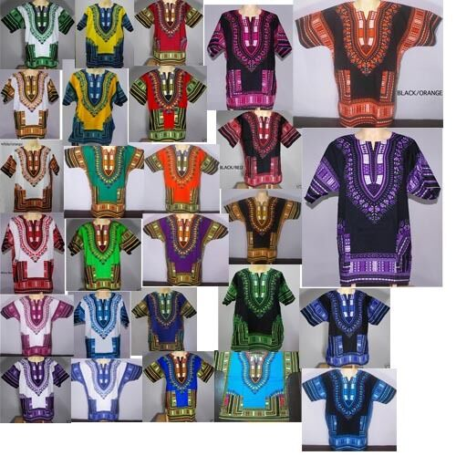 CAFTAN Mexican West Africa African Dashiki Shirt-men Tribal Jungle Hippie Kwanza