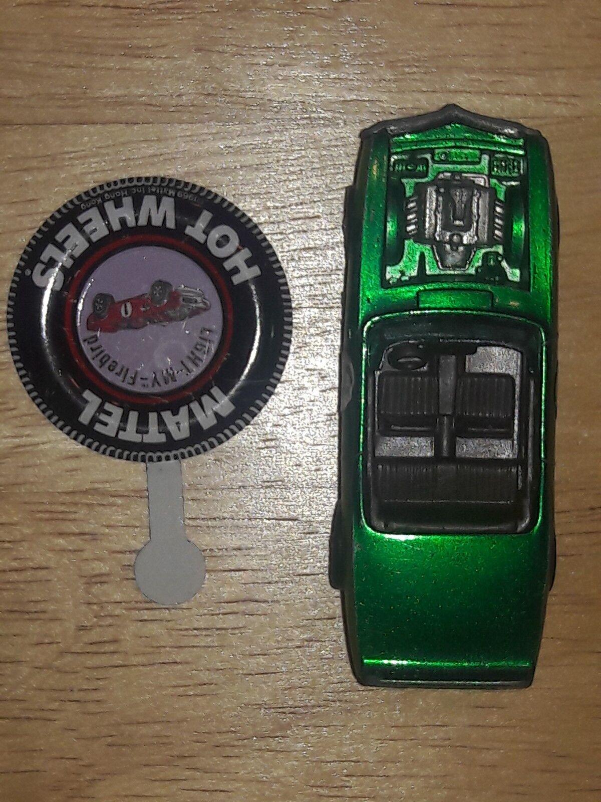 USED Vintage Original HW 1969 Emerald Grün Light My Firbird w Button