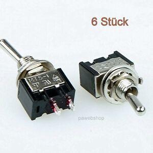 6-Miniatur-Kippschalter-einpolig-Ein-Aus-230V-3A-Ausschalter