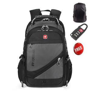 2019-new-Swiss-Gear-Men-Travel-Bag-Macbook-laptop-hike-Grey-color-backpack-15-6