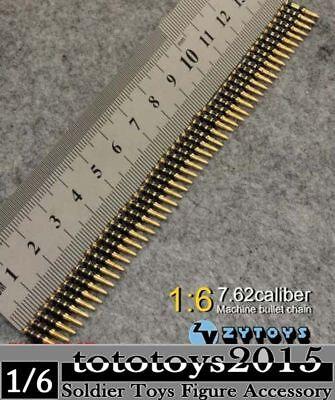 "Metal Machine Bullet Chain1//6 ZY Toys 50PC Caliber  DIY Fit 12/"" Figure Model"