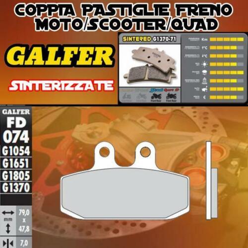 FD074G1370 PASTIGLIE FRENO GALFER SINTERIZZATE ANTERIORI APRILIA SCARABEO 125 4T