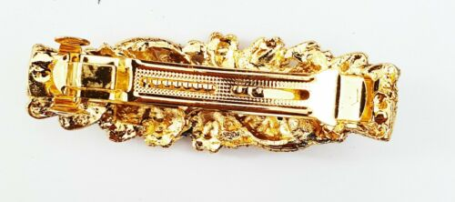 Ladies Hair Clip Diamonte Clips Stunning Standout Stylish Colourful Multi Stones