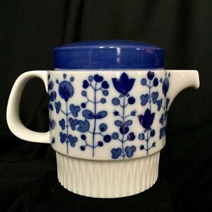 RARE-THOMAS-Rosenthal-Small-Teapot-Blue-Mid-Century-Vintage-Condition-Like-New
