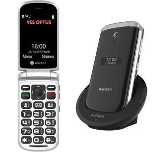 CLEARANCE-Aspera-F28-3G-Flip-Seniors-Phone-Black-Australian-Stock