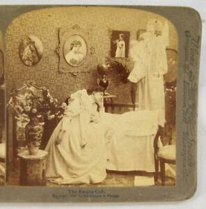 Stereoview-Underwood-The-Empty-Crib-Angel-Holding-Dead-Baby-Mother-Grieving-O