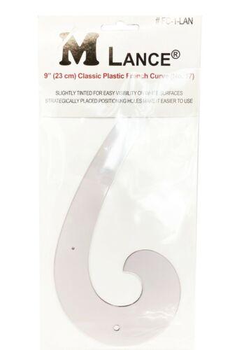 "Lance FC-1-LAN Classic Plastic French Curve 9/"" 23 cm No.17"