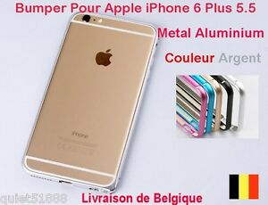 Details about BUMPER METAL ALUMINIUM HOUSSE COQUE étui POUR IPHONE 6 Plus Argent