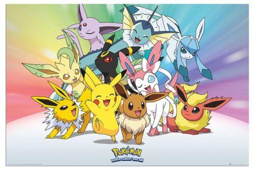 Pokemon Go Eevee Evolutions Poster New Maxi Size 36 x 24 Inch