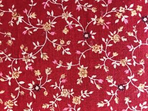 Cotton Quilt Fabric Floral Mini Print Yellow  BTHY