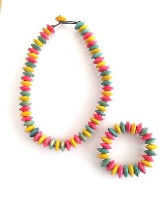 Bright Multi Colore Tesoro Candy Perline Collana E Braccialetto Set-mostra Il Titolo Originale