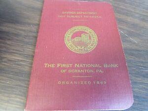 West Side Bank Vintage Savings Book Scranton Pa 1946