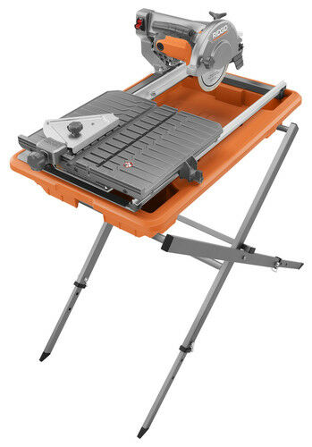 """RIDGID R4030S 7""""  Job Site Tile Saw with Laser & Foldable Stand"""