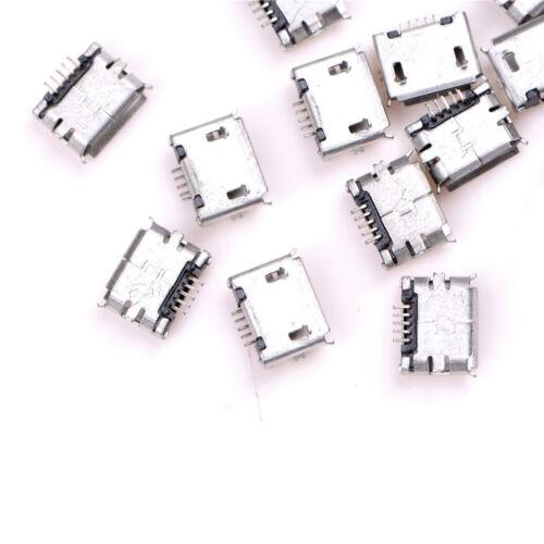 20pcs Micro USB Type B Female Socket 5-Pin Connector SMD Soldering JB