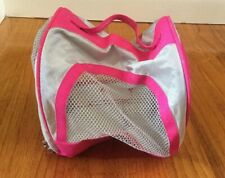 New American Girl Doll Pet Pink Travel Kennel w Blanket~Stickers Cat~Dog Carrier