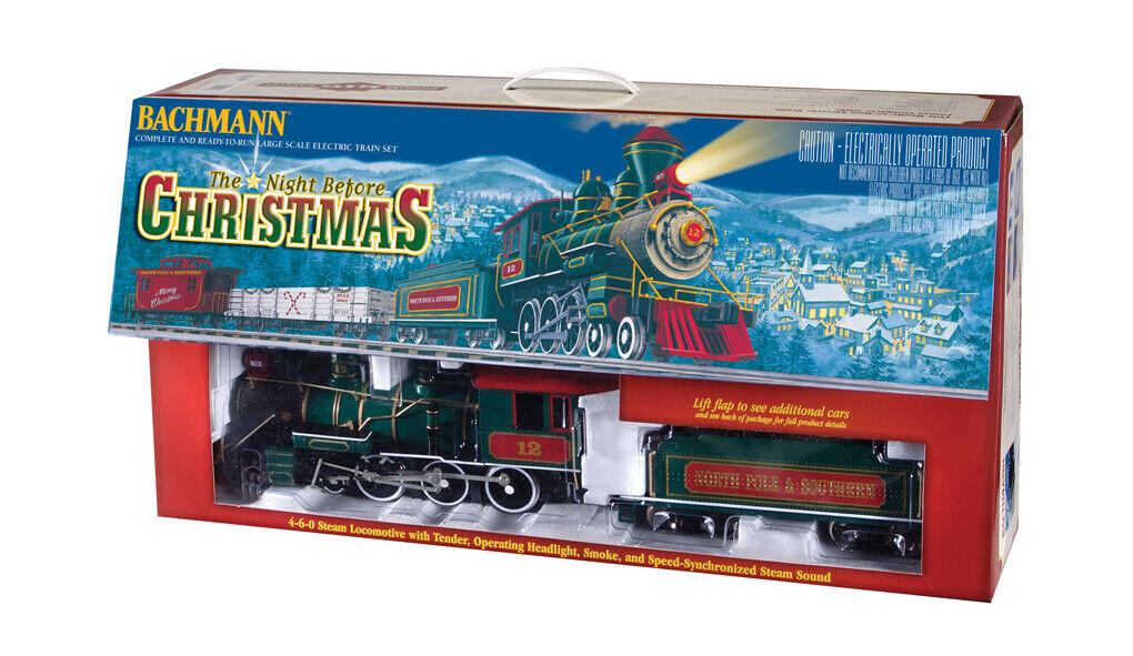 Bachuomon i treni Night Before Christmas Holiday Train Set G Scale 90037