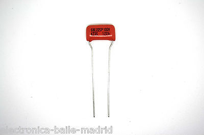 2x GENUINE SPRAGUE ORANGE DROP 225P CAPACITOR GUITAR 0.047uF .047uF 100V