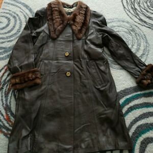 With Leather Collar Coat Lambskin Cuffs Real Fur And EHqdAXxw