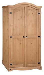 Corona 2 Door Arch Top Wardrobe Mexican Bedroom Solid Pine by Mercers Furniture