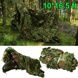 10x16-5ft-Camouflage-Camo-Net-Netting-Camping-Military-Hunting-Woodland-Leaves