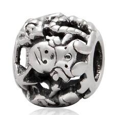 Santas Elves Chrismas Genuine 925 Sterling Silver Charm Si Adatta a Bracciale Europeo