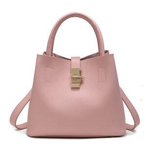 Image is loading Women-Leather-Satchel-Handbag-Shoulder-Tote-Messenger- Crossbody- 1efd43686d61b