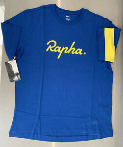 Rapha-Yorkshire-T-Shirt-Blue-Size-Medium-100-Cotton-Brand-New-With-Tag
