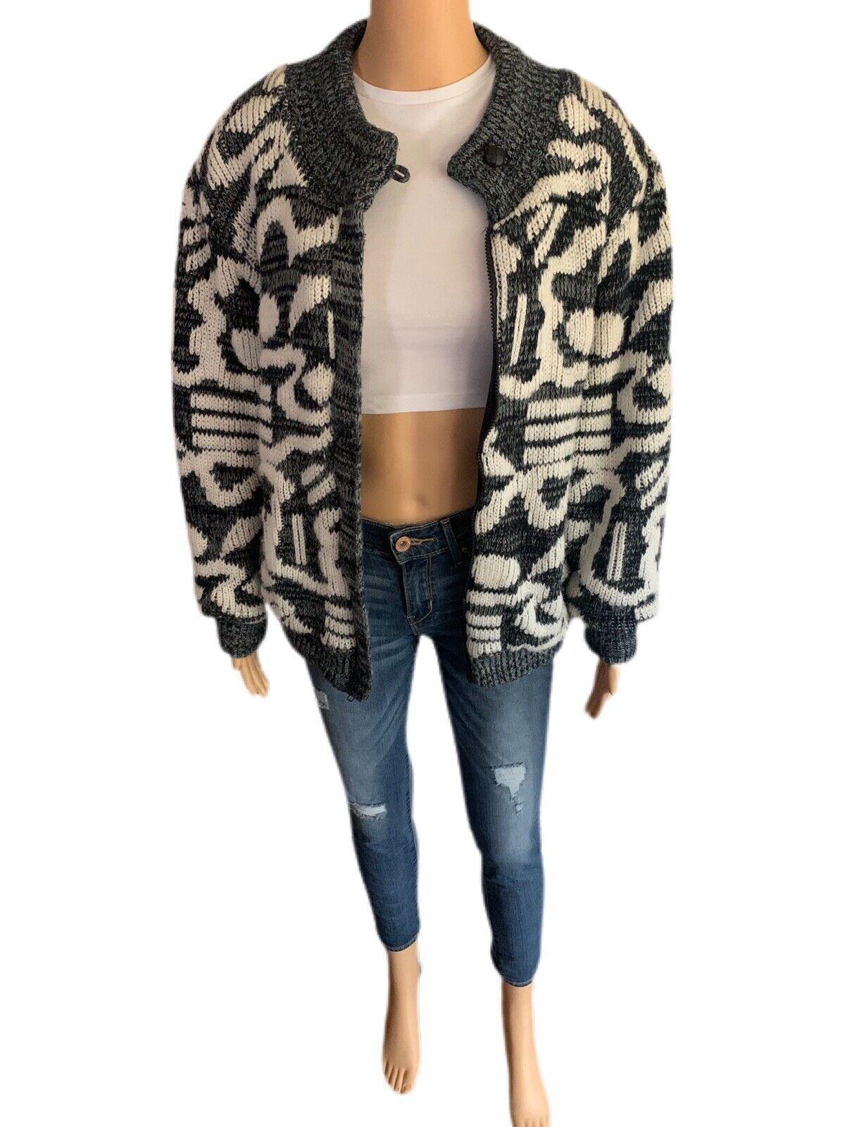 Chimayo Knit Sweater Jacket 80s Vintage Jacket Bo… - image 5
