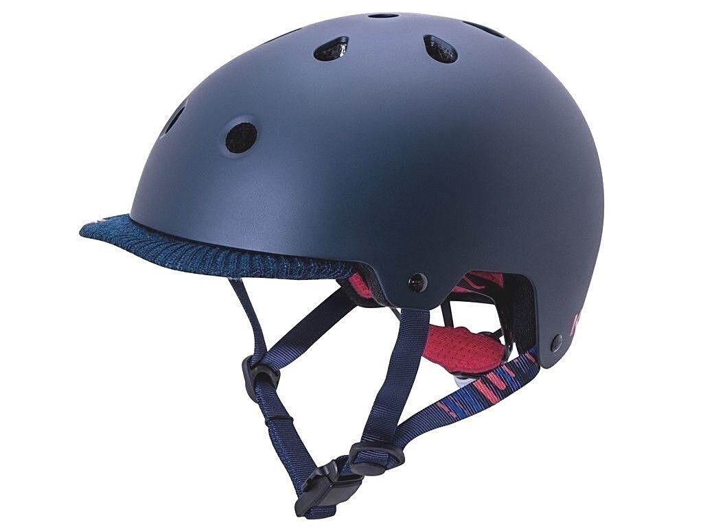 Kali Saha Vibe Bicycle Helmet Matte Navy Red with Removable Visor