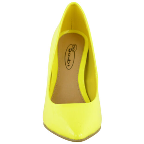 LADIES WOMENS BRIGHT FLUORESCENT NEON POINTED TOE COURT SHOES HIGH HEELS SIZE