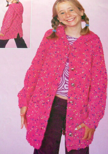 "KNITTING PATTERNS 22/"" 34/"" BOYS GIRLS HOODIES CARDIGANS SWEATERS COATS NV13"
