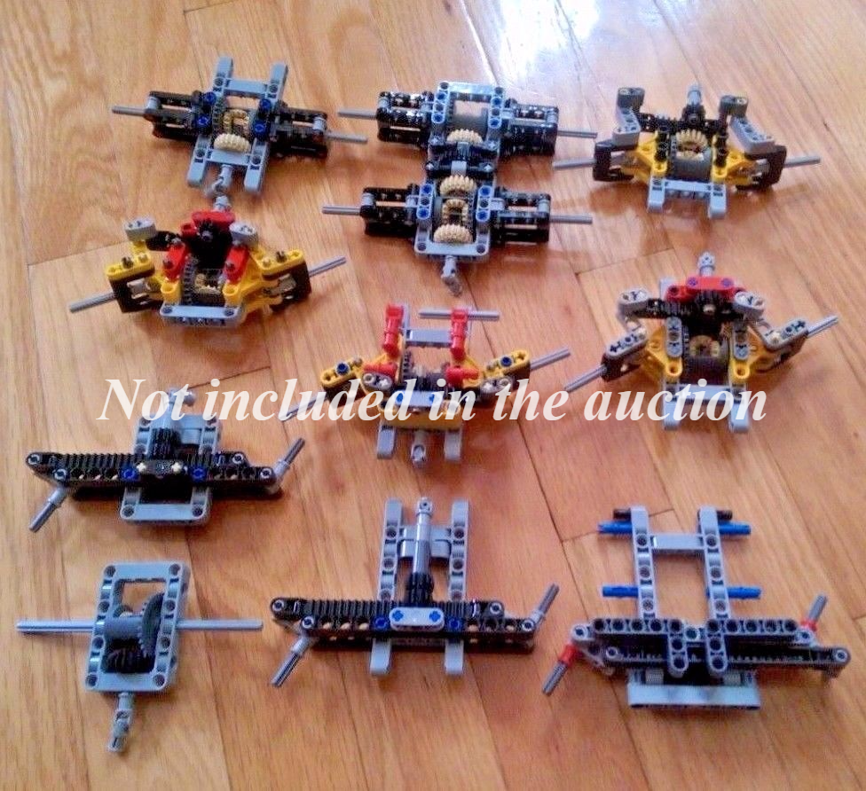 LEGO Technic 4WD chassis + transfer case + servo motor motor motor + XL motor new parts 27b3e9