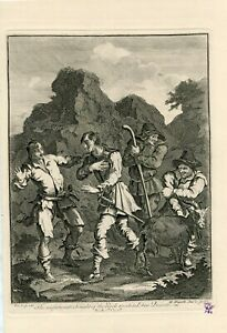 The-Unfortunate-Knight-Of-The-Rock-Meeting-Don-Quixote-Engraving-By-William-Home