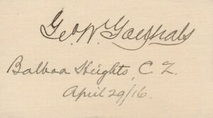 George-W-Goethals-Signature-of-the-Engineer-Responsible-for-the-Panama-Canal