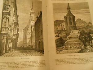 Le Cimetière Saint Jean à Nuremberg Gravure Print 1871