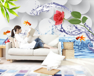 3D pinks goldfishs 74 Wall Paper Murals Wall Print Wall Wallpaper Mural AU Lemon